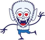 Loup-garou mignon de Halloween dans l'amour Image stock