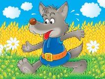 Loup gris illustration de vecteur