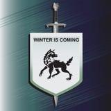 loup L'épée et le bouclier illustration stock