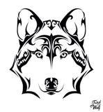 Loup tribal Image libre de droits