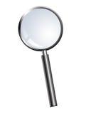 Loupe. Grey Lupe over white background. Object illustration Royalty Free Stock Images