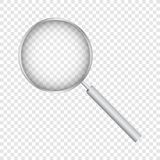 Loupe, avec la maille de gradient, d'isolement sur le fond transparent, avec la maille de gradient, illustration de vecteur photo libre de droits