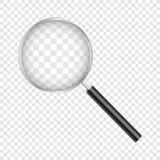 Loupe d'isolement sur le fond transparent Illustration de vecteur image libre de droits