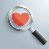 Loupe Heart Stock Photos