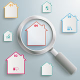 Loupe Houses Royalty Free Stock Images