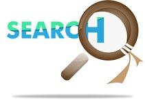 Loupe, loupe sur le concept de recherche Image stock