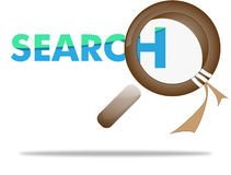 Loupe, magnifying glass on search concept Stock Image