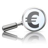Loupe Mirror Euro Royalty Free Stock Photo