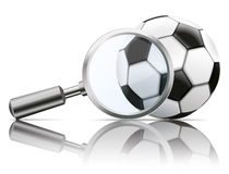 Loupe Mirror Football Royalty Free Stock Photo