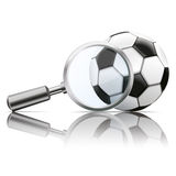 Loupe Mirror Football Royalty Free Stock Images