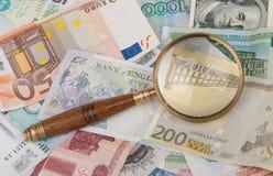 loupe pieniądze Fotografia Stock