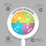 Loupe Puzzle Infographic Stock Photos