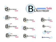 Loupe recherchant la promotion de Black Friday Photographie stock