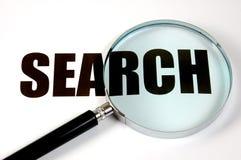 Loupe - recherche Photographie stock libre de droits