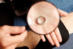Loupe and ring Royalty Free Stock Images