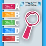 Loupe, search ibusiness nfographic Stock Image