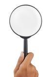 loupe szklany magnifier Fotografia Royalty Free