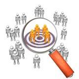 Loupe Target Groupe stock illustration