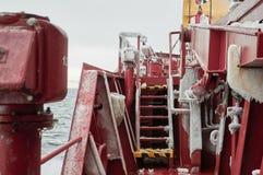 Lourd de navire couvert de la glace Photo stock