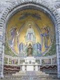 Lourdes, chapel external. Lourdes, a mosaic of one of the chapels external Royalty Free Stock Photography