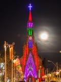 Lourdes Church Clock Tower Canela Brazil Royalty Free Stock Photos