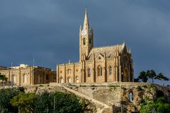 Lourdes Church, Gozo, Malta Stock Image