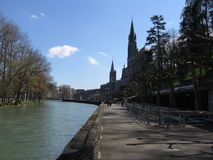 Lourdes en France Images libres de droits