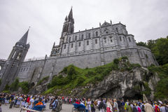 Lourdes, France. The Sanctuary of Our Lady of Lourdes, a destination for pilgrimage in France famous for the reputed healing power of its water Stock Image