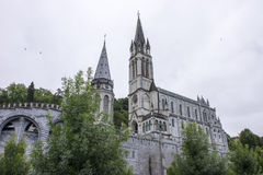 Lourdes, France. The Sanctuary of Our Lady of Lourdes, a destination for pilgrimage in France famous for the reputed healing power of its water Royalty Free Stock Photos
