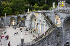 Lourdes, France. The Sanctuary of Our Lady of Lourdes, a destination for pilgrimage in France famous for the reputed healing power of its water Stock Photo