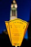 Lanterna e la torre della basilica nella distanza Fotografia Stock Libera da Diritti