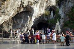 Lourdes grotta Arkivbilder