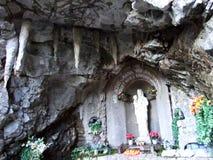 Lourdes-Grotte Alt StJohann, Toggenburg royalty-vrije stock fotografie
