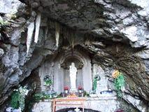 Lourdes-Grotte Alt StJohann, Toggenburg royalty-vrije stock afbeeldingen