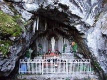 Lourdes-Grotte Alt StJohann, Toggenburg stock foto