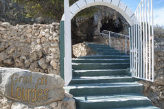 Lourdes grotto on Aruba Royalty Free Stock Photography