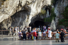 Lourdes grotto Stock Images