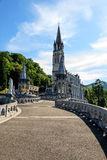Basilica of the Rosary in Lourdes Stock Images