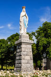 Statue of Our Lady of Lourdes Royalty Free Stock Image
