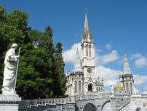 Lourdes kościoła Obraz Royalty Free