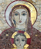 Lourdes Mosaic Royalty Free Stock Image