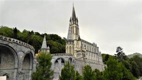 Lourdes Sanctuary France stock afbeelding