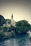 Lourdes. View on the church of Lourdes, France Royalty Free Stock Images