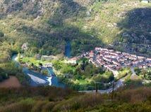 Lourdes von oben Stockbilder