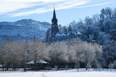 Lourdes during winter Royalty Free Stock Photography