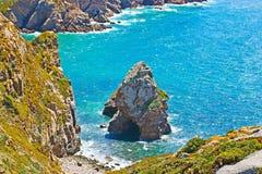 Lourical beach at Cabo da Roca Stock Images