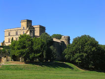 Lourmarin Castle in Provence Stock Photos