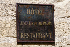LOURMARIN, FRANCE - August 16, 2012: Royalty Free Stock Photography