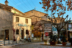 Lourmarin. France - Charming street of  town. Provence-Alpes-Cote d`Azur. France Royalty Free Stock Photography
