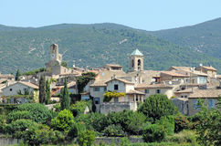 Lourmarin town. View on Lourmarin village, Vaucluse department, Provence region in France Royalty Free Stock Photo